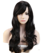 "Heat Resistant Synthetic Wig Japanese Kanekalon Fibre 10 Colours Full Wig with Bangs Long Curly Wavy Full Head for Women Girls Lady Fashion and Beauty 23"" / 58cm"