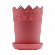 Colourful Flower Planter Tray Home Decor Crown Lace Plastic Flowerpot Resin Pots indoor/outdoor Decorations Baskets