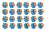 24 Pack - Mini Globe Planet Earth Soft Foam Stress Ball Toy Novelties -