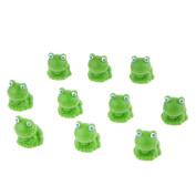 MagiDeal Miniature Fairy Garden Micro Landscape Mini Dollhouse Bonsai Decor Frog Pack of 10