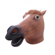 LUBBER Horse Head Latex Toy Animal Head Mask