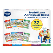 VTech Touch and Teach Activity Desk Deluxe 4-in-1 Pre-Kindergarten Bundle Expansion Pack for . -4