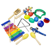 Innocheer Musical Instruments Xylophone Set for Kids Percussion Toy