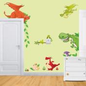 Rainbow Fox Jungle Wild Animal lion ,giraffe ,monkey Vinyl Wall Sticker Decals for Kids Baby Bedroom