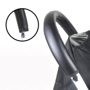 Baby Stroller PU Waterproof Armrests Front Handle Bar Grip Protective Zipper Cover Accessories