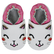Kimi + Kai Kids Soft Sole Leather Crib Bootie Shoes - Cute Cat