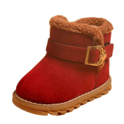 For 1-6 Years old Girls Boys,Clode® Winter Baby Child Suede Hard Sole Fur Snow Ankle Boot Shoes