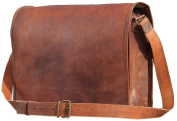 AANAND Leather Laptop Messenger Briefcase Crossover Shoulder Bag 28cm
