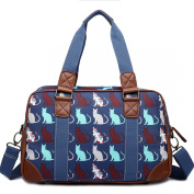 MISS LULU OILCLOTH TRAVEL BAG CAT PLUS FREE BEAU PERRY BAG FOR LIFE