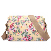 MISS LULU MATTE OILCLOTH DORABLE FLORAL SATCHEL PLUS FREE BEAU PERRY BAG FOR LIFE
