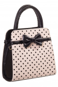 Banned Apparel Carla Rockabilly Polka Dot Handbag Shoulder Bag
