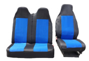 2 + 1 Size 2 Black/Blue Slipcover Seat Cover Seat Cover Seat Protector Heavy Duty VW Transporter V Bus