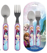 Disney Frozen Children's Cutlery Set 2-Piece Spoon + Fork Kids Cutlery Anne & Elsa