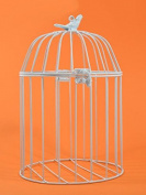 Metal Bird Cage, White, 26x19 cm Soft Toy Ideal for/laber Animals or Home Decor