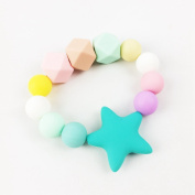 Silicone Teether Baby Teether Star Nursing Bracelet Baby Nurse Charms Food Grade Chewable Beads Can Chew Baby Shower Gift Baby Teether Toys
