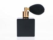 50ml Matt Black Essential Cube Fragrance Atomizer with Black Bulb