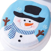 Vovotrade Snowman Toilet Seat Cover Christmas Decoration Christmas Snowman Lid Single Toilet Cover