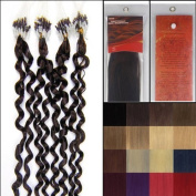 50cm Curly Loops Micro Ring Beads Tipped Human Hair Extenions 100S 02 Dark Brown Women Beauty Hairsalon Style Design 0.5g/s