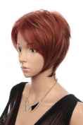 Prettyland C142 - wig short hair red & orange tones layered cut free wig cap