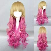 Women's Wig Cosplay Wig Blonde Dip-Dye Pink 65 cm