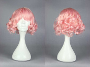 Women's Wig Cosplay Pink Wig Curly Fringe with 30 cm