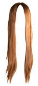 WIG-080-Long Middle-Parting Synthetic Straight Hair Bright Brown Wig