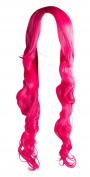 WIG-044-Long Synthetic Pink Party Wig with Fringe