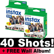 Fujifilm Instax WIDE Film Bundle Pack (40 Shots) + FREE Wall Album!