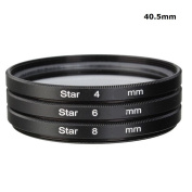 40.5mm Star Filter 4 6 8 Pointed Point Burst Twinkle Light Flare Lens Filters For Canon Nikon Sony Pentax DSLR Camera Camcorder Lens