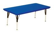 Correll Ar3060-Rec-27 Rectangular Blow-Molded Activity Tables - Standard Legs- Blue