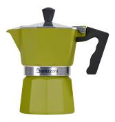 BARAZZONI The Coloured Coffee Maker 3 Cups, Aluminium, Green, 8.7 x 15.1 x 15.7 cm