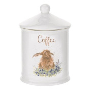 Wrendale by Royal Worcester Coffee Canister Hare, Multi-Colour