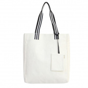 Cadillaps Women Canvas Tote Bag with Mini Pocket Shoulder Hand Large Reusable