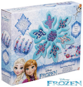 Kids Beads for Children Girls Disney Frozen Sparkling Bead Crafts Set with Snowflake Shaped Bead Organiser