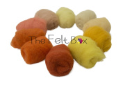 Carded Wool For Felting, Needle Felting Wool Shade Pack, 100 grammes 160ml