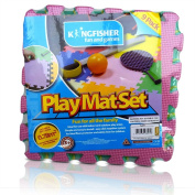 Multi Coloured Interlocking Play Mat Set, 9 Piece by Kingfisher