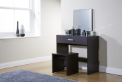 Julia Dressing Table Set 3 Colours With Stool and Mirror (Espresso) by Right Deals UK