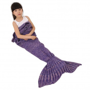 Mermaid Tail Blanket for Kids,Mermaid blanket, Crochet Snuggle Mermaid, Handmade Crochet Mermaid Blanket,Best Birthday gift persent for Kids by Jr.Hagrid