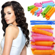 MiSion 18Pcs DIY Hair Curlers Rollers Circle Twist Spiral Cling Strip Maker Foam Salon Accessory