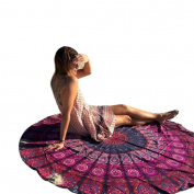 Internet Bohemian Round Hippie Tapestry Beach Throw Roundie Mandala Towel Yoga Mat