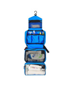 Yvonnelee Waterproof Toiletry Bag Travel Outdoor Camping Toilet Bags for Women and Men Lightweight Hanging with Hook - Blue
