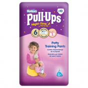 Huggies Pull Ups Night Time Potty Training Pants for Girls Size 6 Large 16-23kg (10) - Pack of 2