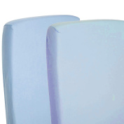 2x Fitted Sheets Compatible With Snuzpod Bedside Crib 100 % Cotton - Blue-By For-Your-Little-One