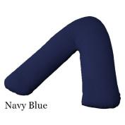Adamlinens 68 pick V Pillowcase for V Shaped Pillows Navy blue V Pillow Case Cover Only
