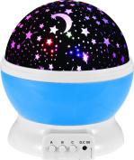 LMTECH Baby Room Night Light Moon Star Projector 360 Degree Rotation - Night Light Lamp,Romantic 3 Modes Colourful LED Moon Sky Star Dreamer Desk Rotating Cosmos Starlight Projector for Children Kids Baby Bedroom
