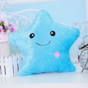 Colourful Luminous Light Star Pillow Cosy Glowing Smile Star Shape LED Pillows Office Sofa Chair Cushions Plush Toys for Kid's Soft Toys Gifts
