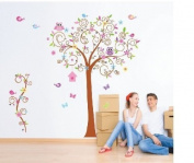 Charming Wall Sticker Large Forest Animals Owl Bird tree Wall Sticker Art Decal Decor Kid Nursery by Generic