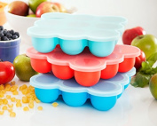 Silicone Freezer Tray for Baby Food Storage - Reusable Baby Food Storage Containers - Silicone Freezer Trays - BPA Free High Quality Freezer Container with Lid