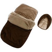 3 In 1 Luxury Padded With Pouches Footmuff Liner And Baby Head Hugger Fits Any Stroller Pram Or Buggy - Hot Chocolate Brown