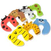 Door Stopper,Laniakea® 7 Pcs Child Safety Animal Cushion Hinge Door Stop / Decorative Rubber Cat Finger Protector / Pinch Finger Guard Security